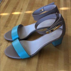 Charles color block heels